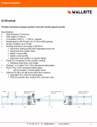Caracteristici tehnice pereti modulari pentru birouri