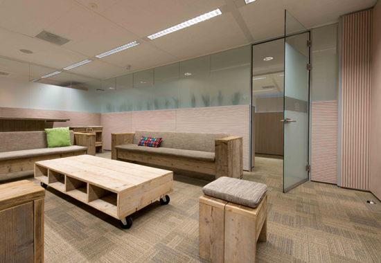 Pereti modulari din sticla sau lemn pentru birouri  QBIQ