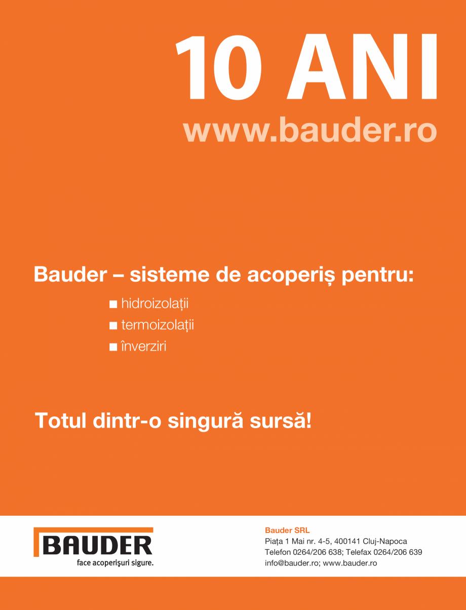 Pagina 1 - BAUDER - 10 ani de succes in Romania  Catalog, brosura Romana 10 Ani www.bauder.ro ...
