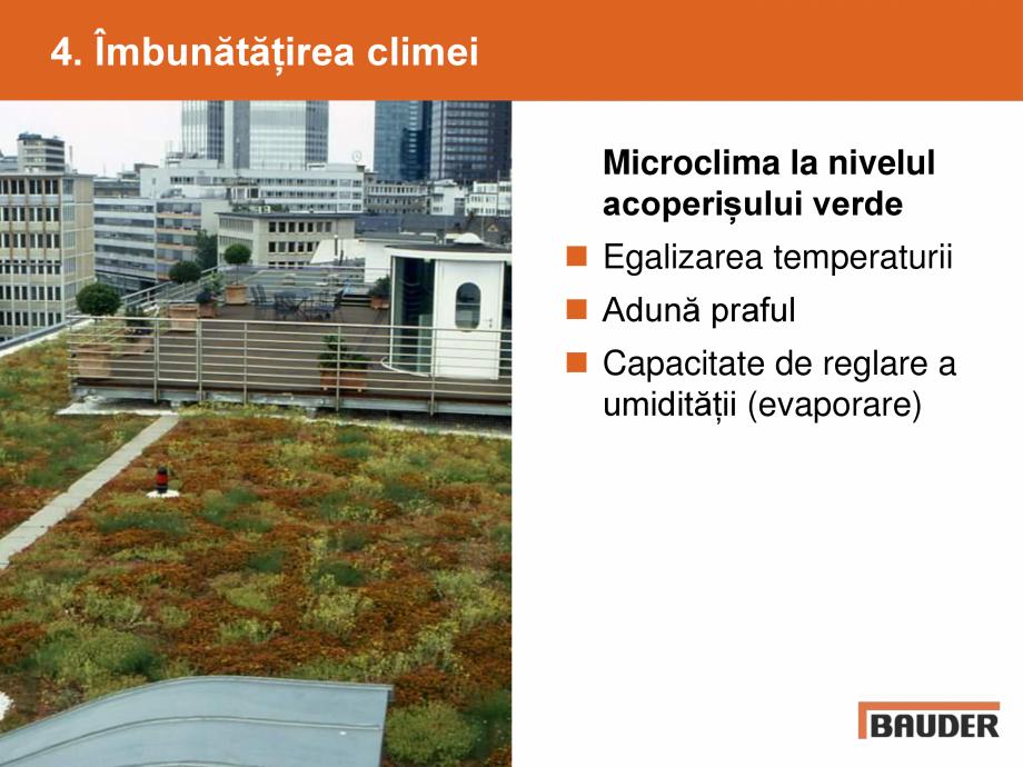 Catalog, brosura Argumente pentru un acoperis verde BAUDER Acoperis cu vegetatie extensiva, intensiva BAUDER  - Pagina 7
