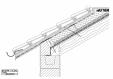 Bauder - Acoperis ceramic - Detaliu streasina HOPLAPUT01 BAUDER