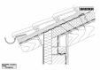 Bauder - Acoperis ceramic - Detaliu streasina STICHWDV02 BAUDER
