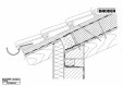 Bauder - Acoperis ceramic - Detaliu streasina STICHWDV05 BAUDER