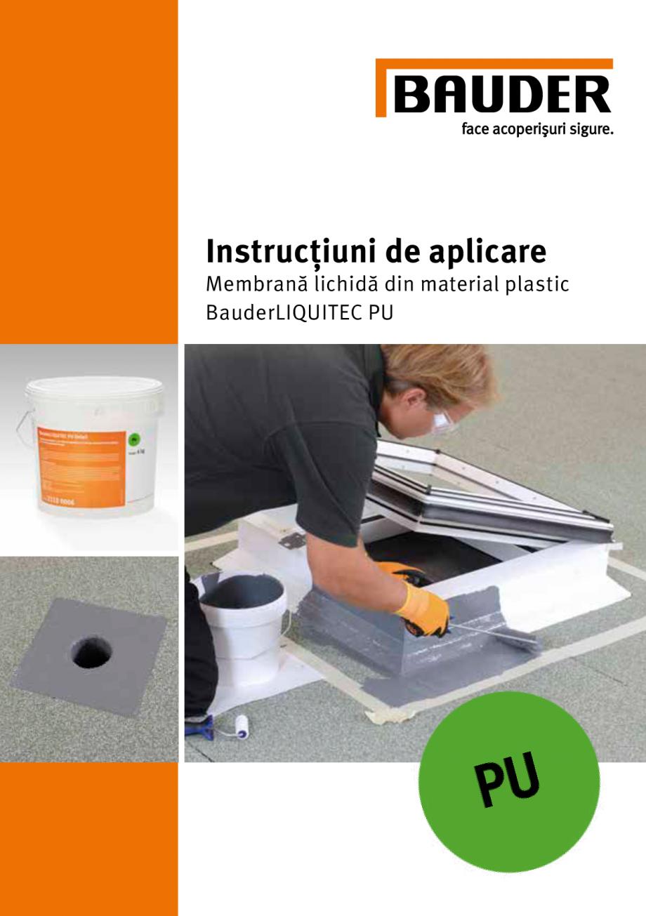 Pagina 1 - Membrana lichida din material plastic BAUDER LIQUITEC Reiniger, LIQUITEC Primer Material ...