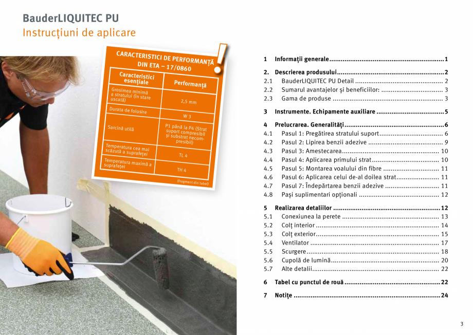 Pagina 2 - Membrana lichida din material plastic BAUDER LIQUITEC Reiniger, LIQUITEC Primer Material ...