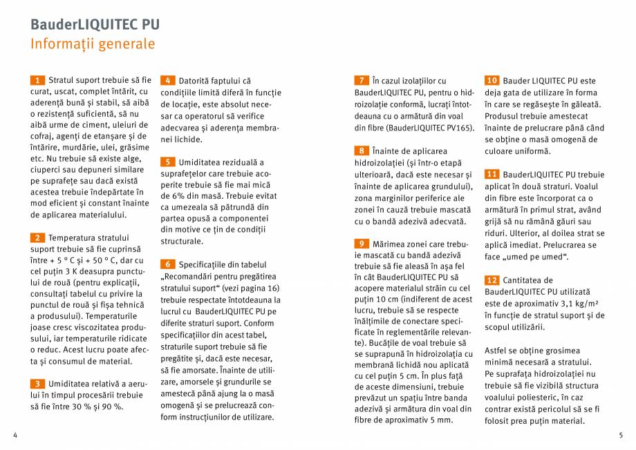 Pagina 3 - Membrana lichida din material plastic BAUDER LIQUITEC Reiniger, LIQUITEC Primer Material ...