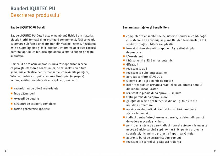 Pagina 5 - Membrana lichida din material plastic BAUDER LIQUITEC Reiniger, LIQUITEC Primer Material ...
