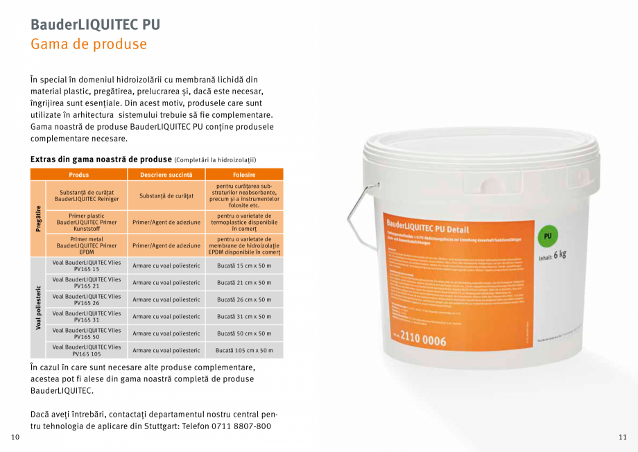 Pagina 6 - Membrana lichida din material plastic BAUDER LIQUITEC Reiniger, LIQUITEC Primer Material ...