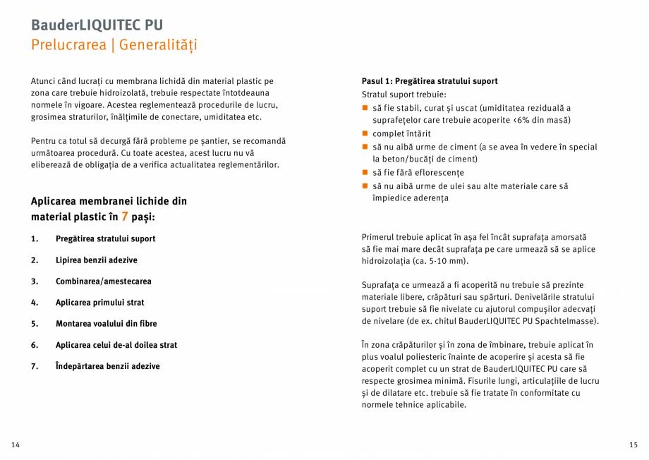 Pagina 8 - Membrana lichida din material plastic BAUDER LIQUITEC Reiniger, LIQUITEC Primer Material ...