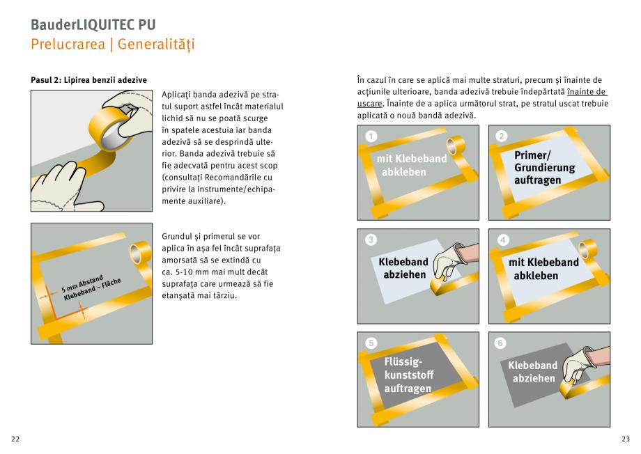 Pagina 12 - Membrana lichida din material plastic BAUDER LIQUITEC Reiniger, LIQUITEC Primer Material...
