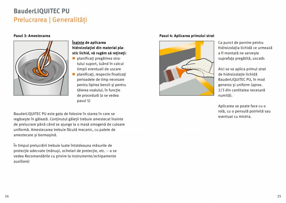 Pagina 13 - Membrana lichida din material plastic BAUDER LIQUITEC Reiniger, LIQUITEC Primer Material...