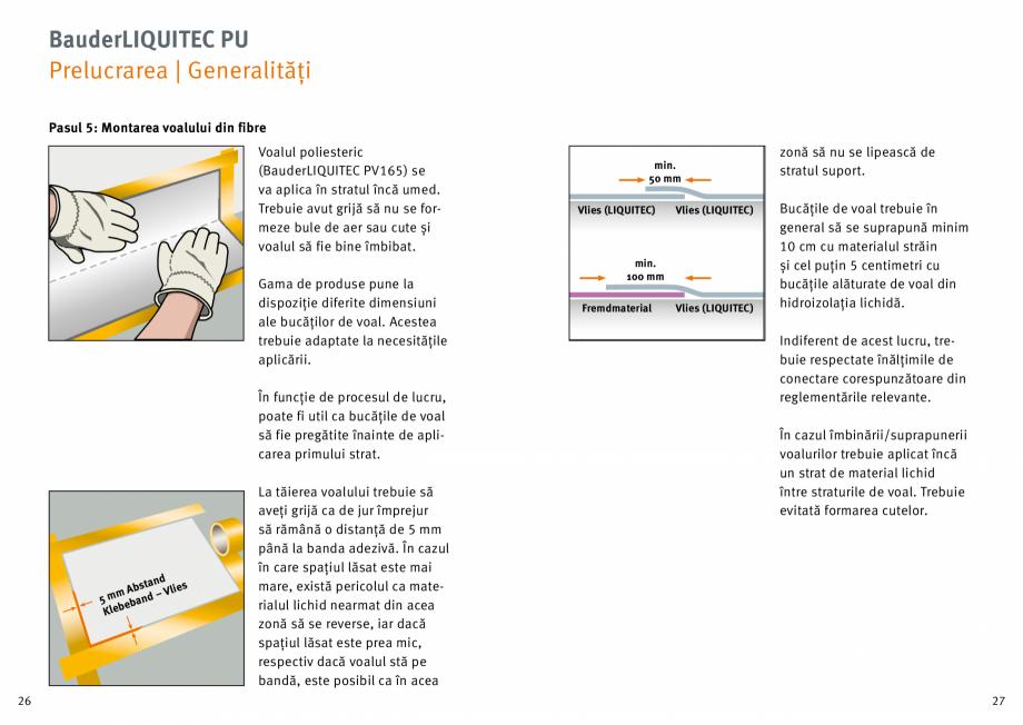 Pagina 14 - Membrana lichida din material plastic BAUDER LIQUITEC Reiniger, LIQUITEC Primer Material...