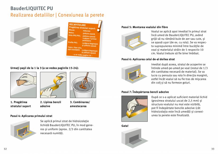 Pagina 17 - Membrana lichida din material plastic BAUDER LIQUITEC Reiniger, LIQUITEC Primer Material...
