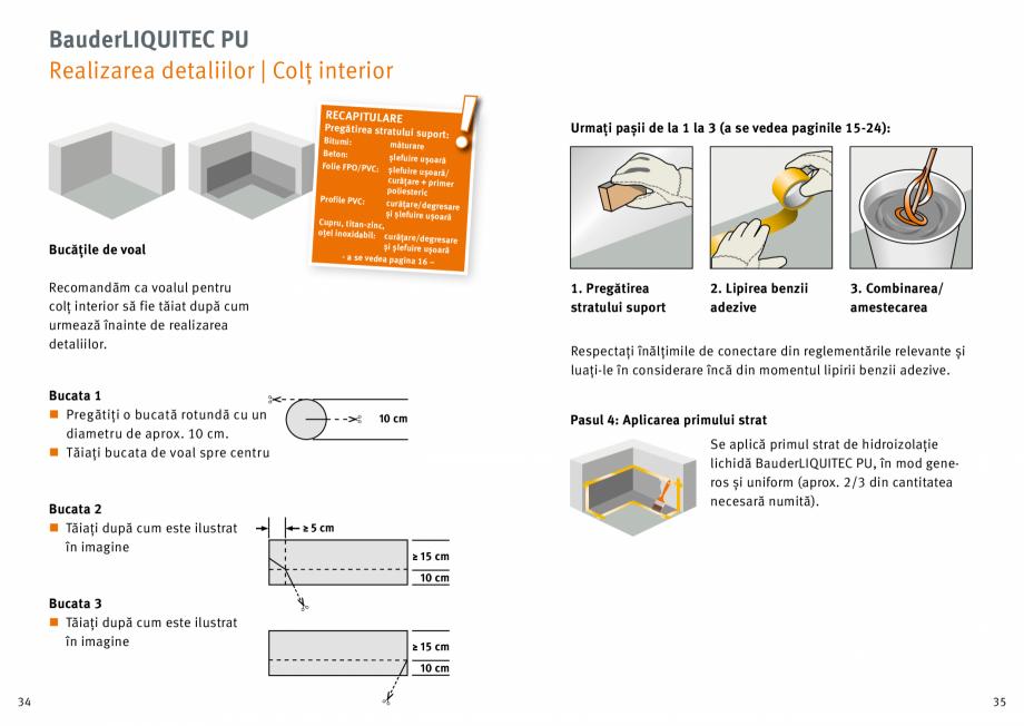 Pagina 18 - Membrana lichida din material plastic BAUDER LIQUITEC Reiniger, LIQUITEC Primer Material...