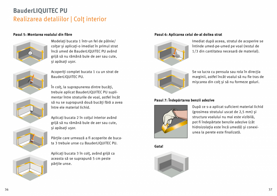 Pagina 19 - Membrana lichida din material plastic BAUDER LIQUITEC Reiniger, LIQUITEC Primer Material...