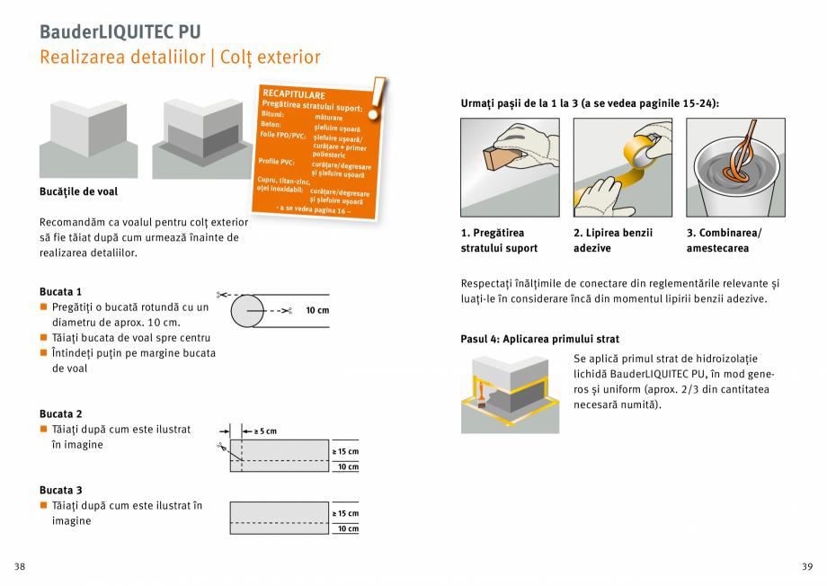 Pagina 20 - Membrana lichida din material plastic BAUDER LIQUITEC Reiniger, LIQUITEC Primer Material...