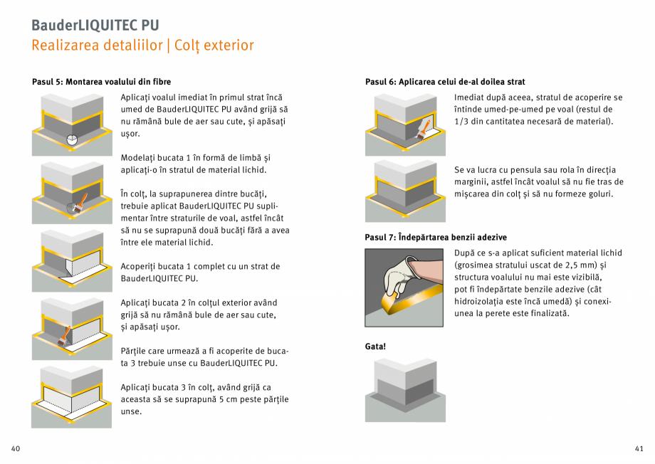 Pagina 21 - Membrana lichida din material plastic BAUDER LIQUITEC Reiniger, LIQUITEC Primer Material...