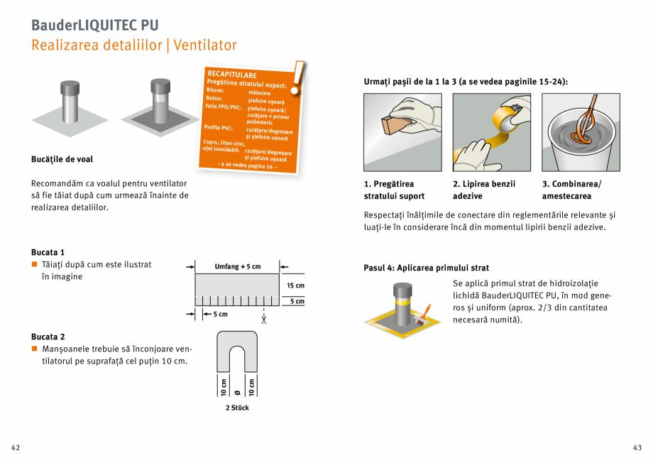 Pagina 22 - Membrana lichida din material plastic BAUDER LIQUITEC Reiniger, LIQUITEC Primer Material...