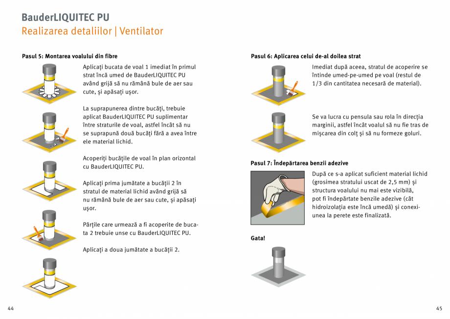Pagina 23 - Membrana lichida din material plastic BAUDER LIQUITEC Reiniger, LIQUITEC Primer Material...