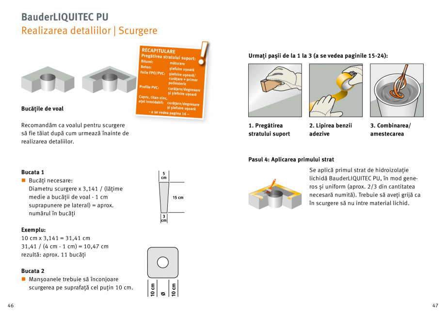 Pagina 24 - Membrana lichida din material plastic BAUDER LIQUITEC Reiniger, LIQUITEC Primer Material...