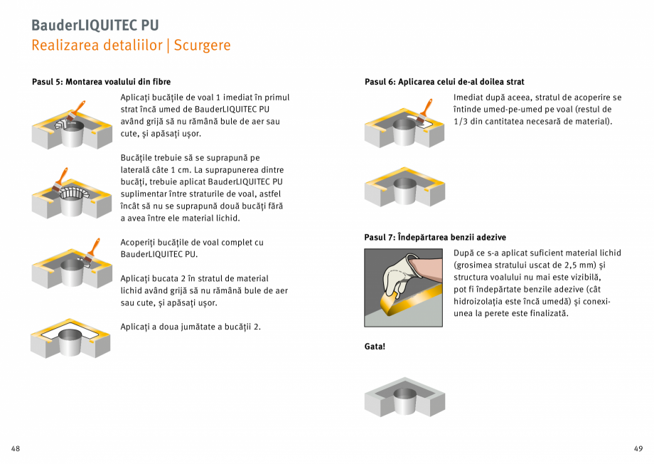 Pagina 25 - Membrana lichida din material plastic BAUDER LIQUITEC Reiniger, LIQUITEC Primer Material...