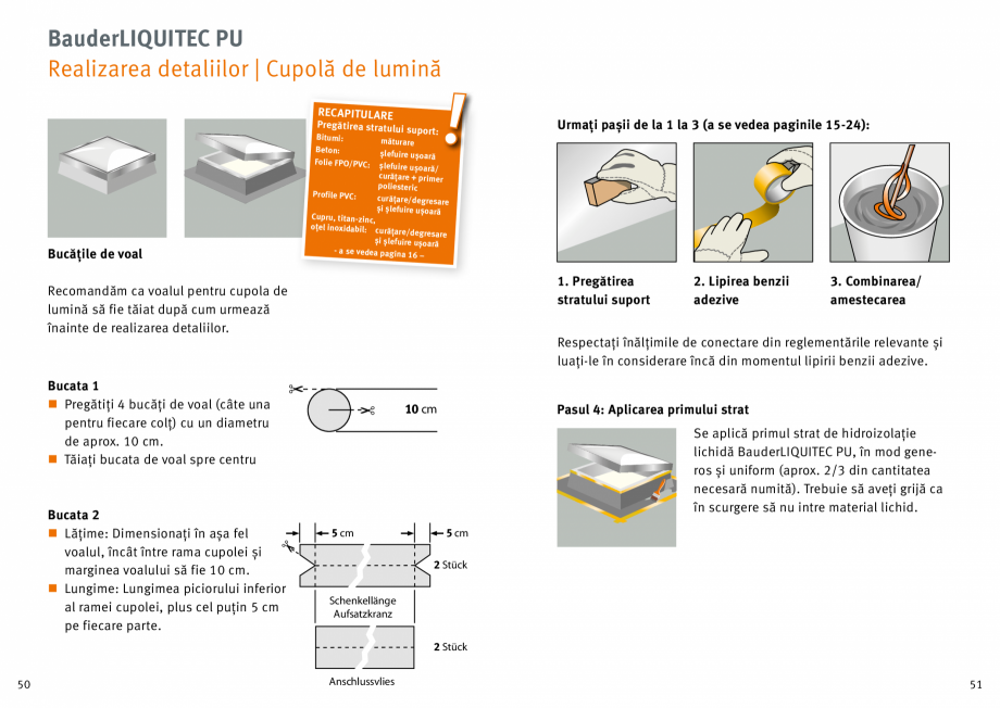 Pagina 26 - Membrana lichida din material plastic BAUDER LIQUITEC Reiniger, LIQUITEC Primer Material...
