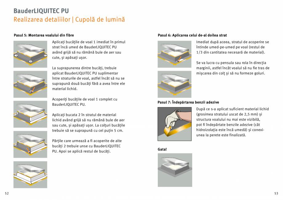 Pagina 27 - Membrana lichida din material plastic BAUDER LIQUITEC Reiniger, LIQUITEC Primer Material...