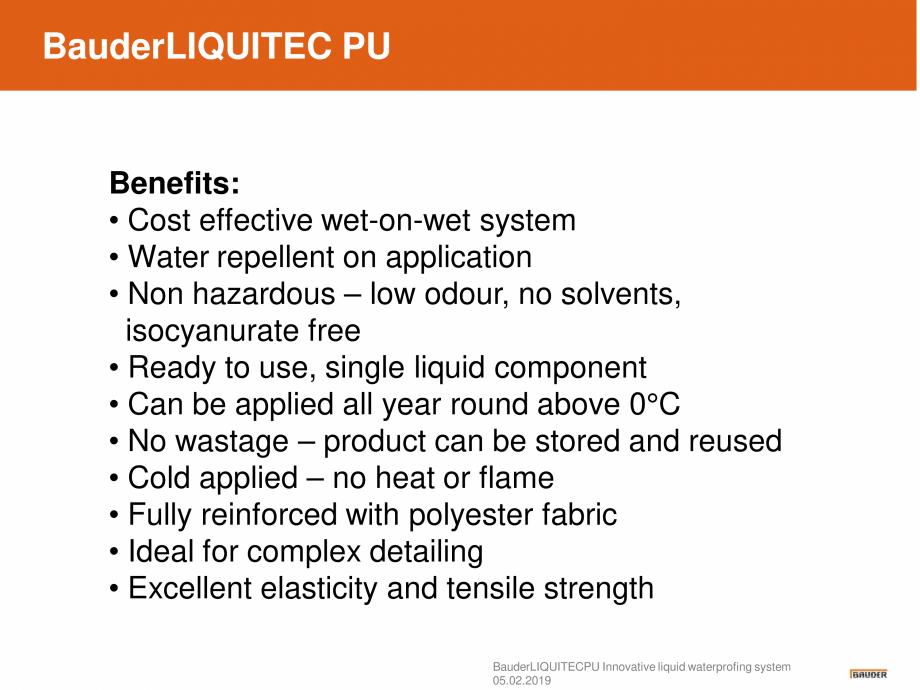 Pagina 5 - Sistem de hidroizolatie cu membrana lichida din material plastic - Prezentare generala...