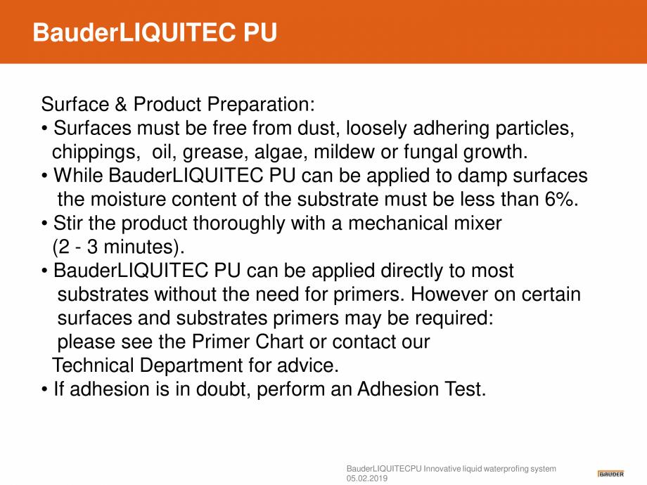 Pagina 9 - Sistem de hidroizolatie cu membrana lichida din material plastic - Prezentare generala...