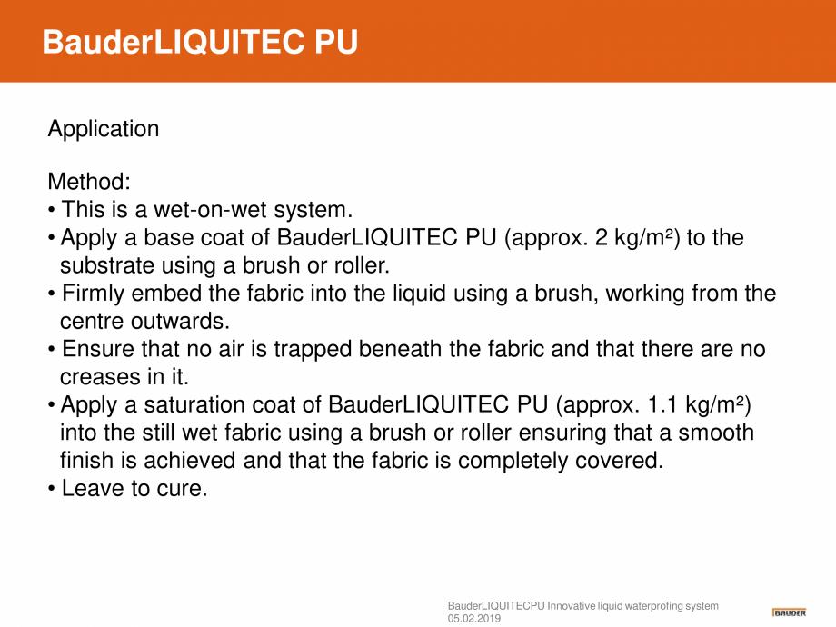 Pagina 11 - Sistem de hidroizolatie cu membrana lichida din material plastic - Prezentare generala...