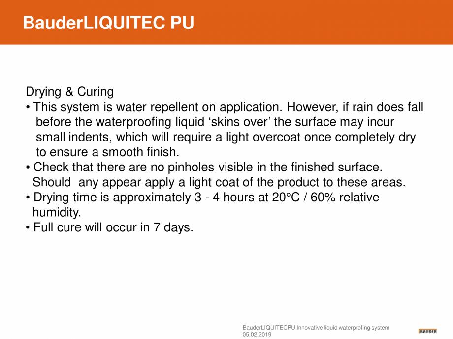 Pagina 12 - Sistem de hidroizolatie cu membrana lichida din material plastic - Prezentare generala...