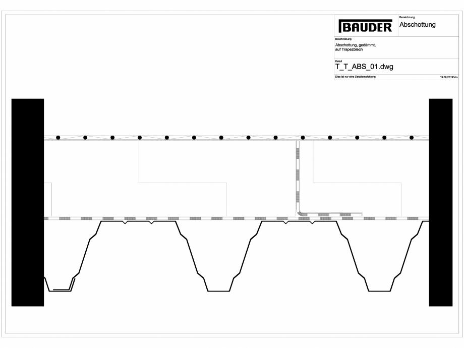 Pagina 1 - CAD-DWG Bauder - Detaliu izolatie - T_T_ABS_01 BAUDER Detaliu de montaj