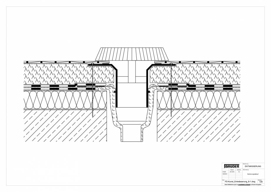 Pagina 1 - CAD-PDF Detaliu Bauder - Evacuarea apei - FD-Kunst_Entwaesserung_8-1_10 BAUDER Detaliu de...