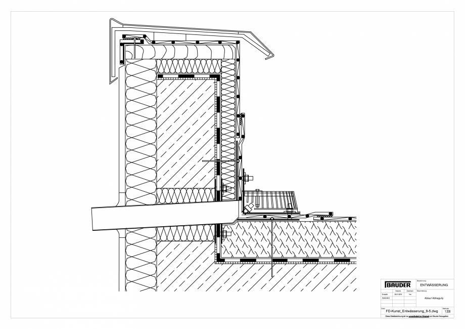 Pagina 1 - CAD-PDF Detaliu Bauder - Evacuarea apei FD-Kunst_Entwaesserung_8-5_10 BAUDER Detaliu de...