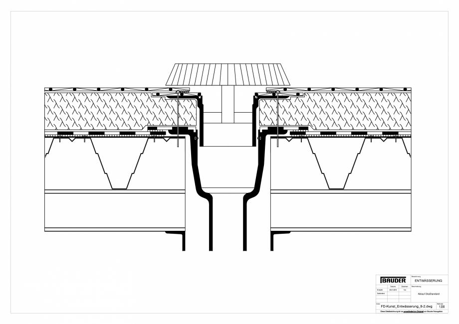 Pagina 1 - CAD-PDF Detaliu Bauder - Evacuarea apei FD-Kunst_Entwaesserung_8-2_10 BAUDER Detaliu de...