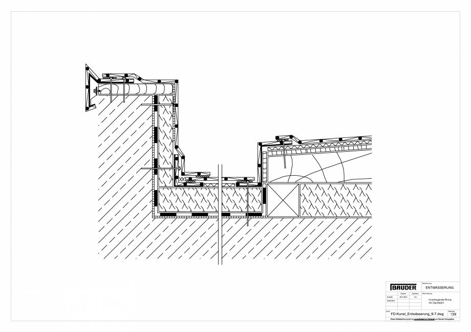 Pagina 1 - CAD-PDF Detaliu Bauder - Evacuarea apei FD-Kunst_Entwaesserung_8-7_10 BAUDER Detaliu de...