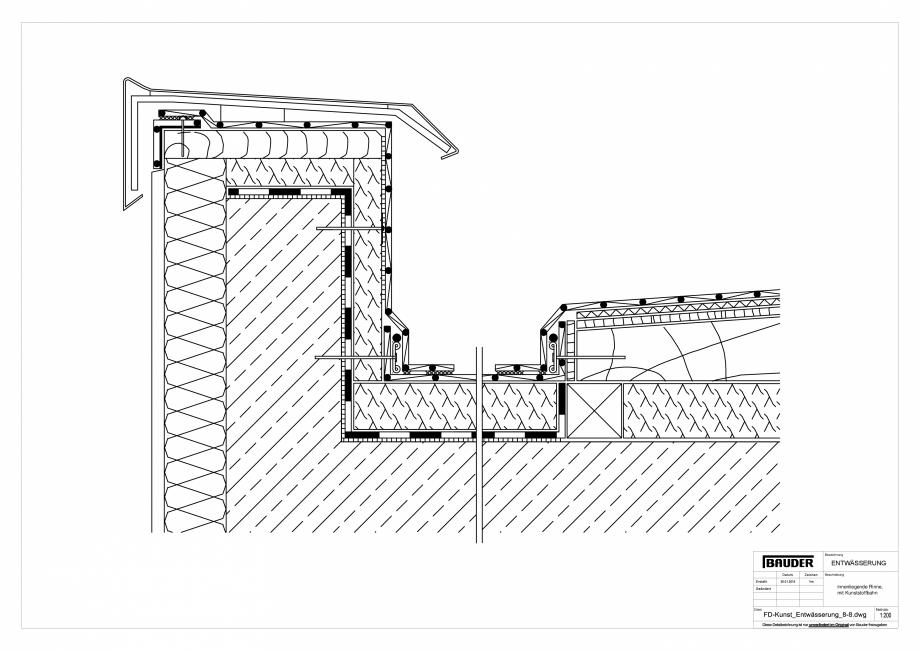 Pagina 1 - CAD-PDF Detaliu Bauder - Evacuarea apei FD-Kunst_Entwaesserung_8-8_10 BAUDER Detaliu de...