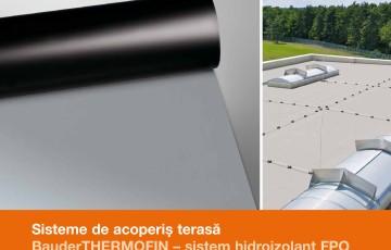 Sisteme de acoperis terasa - Sistem hidroizolant FPO BAUDER