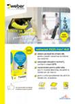 Adeziv pentru placari ceramice la interior si exterior WEBER - weberset EX25 max2 ALB
