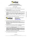 Declaratie de performanta pentru tencuiala decorativa acrilica WEBER - WEBER.PAS CLASSIC