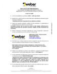 Declaratie de performanta pentru tencuiala decorativa silicatica  WEBER - WEBER.PAS SILICATE