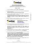 Declaratie de performanta pentru tencuiala decorativa ultrapermeabila WEBER - WEBER.PAS TOPDRY