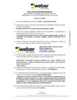 Declaratie de performanta pentru tencuiala decorativa siliconica WEBER - WEBER.PAS SILICON PLUS