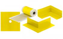 Benzi de etansare folosite in sistemele de hidroizolatii Benzile de etansare Weber asigura, in zonele critice, o etansare completa impotriva actiunii apei in cadrul sistemelor de hidroizolatii sub placari ceramice.