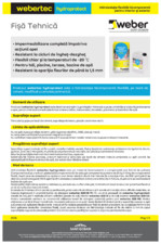 Hidroizolatie bicomponenta flexibila WEBER