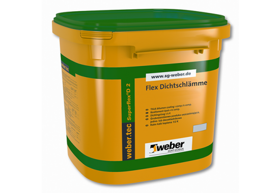 WEBER weber superflex D2 - Hidroizolatii pentru interior si exterior WEBER