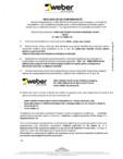 Declaratie de performanta pentru tencuiala decorativa de soclu WEBER - WEBER.PAS MOZAIK