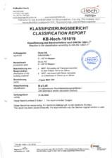 Certificat pentru placile din MDF ignifug WELDE