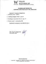 Certificat de calitate 2015 WELDE