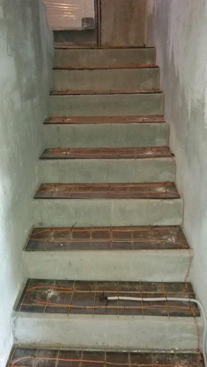 Incalzire in pardoseala - vila / Cablu incalzire trepte
